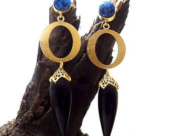 Black onyx drop,druzy earring,fashion earring,long earring,drop & dangle earring,designer earring,indian earring