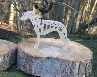 Whippet dog, Whippet  jigsaw, Whippet puzzle, Whippet gift, Whippet ornament, Whippet memorial, gift for dog lover, unique dog gift