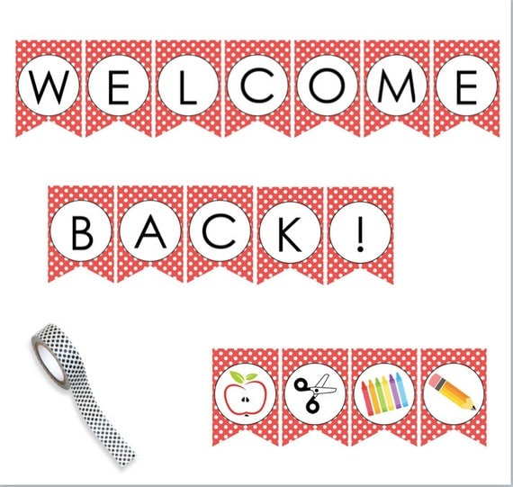Accomplished image pertaining to welcome back sign printable
