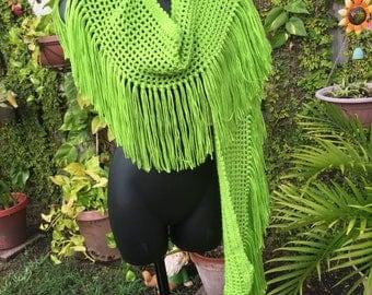 Green scarf/shawl