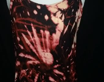 Tie dyed bleached fireworks tank xl