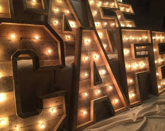"36"" Lighted Marquee Letter 