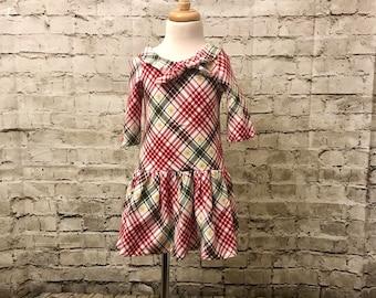 Knit size 4 Christmas Dress