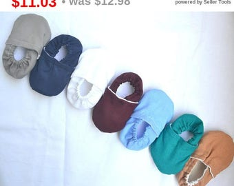 Sale SALE solid colors baby shoes solid color booties plain baby moccasins toddler shoes toddler slippers coming home baby outfit prewalk...