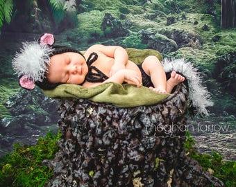Baby Skunk Costume - Woodland Nursery - Woodland Baby Shower - New Baby Gift - Baby Halloween Costume - Newborn Photo Prop - Woodland Animal