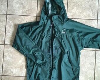 Sierra Designs Green Packable Windbreaker Rain Jacket XL