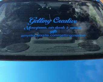 Business car decals
