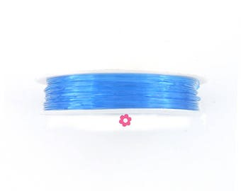 10 m nylon elastic blue clear Crystal 0.8 mm (20 (A)