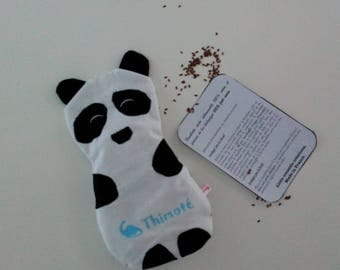 Heating pad flax seed organic removable panda fabric 100% cotton my little hero