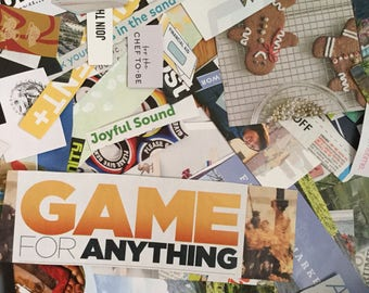 275 Pre-Cut Paper Magazine Images and Words for Collages -Collage Kit