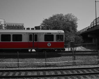Red Line Train- Boston, Massachusetts- Photography Prints