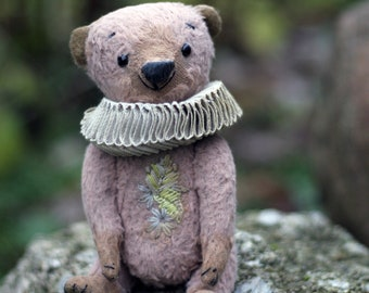 Teddy Bear BENJAMIN, made from natural fabrics colored with plants