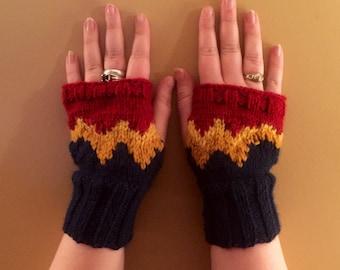 Wonder Woman Fandom inspired Fingerless Gloves
