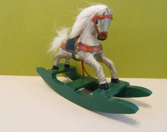 Christmas Ornament, Wooden Rocking Horse