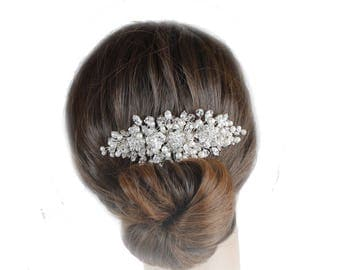 Wedding Hair Comb, Bridal Hair Comb, Crystal Hair Comb, Wedding Haircomb
