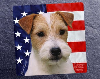 Jack Russell Terrier Coasters, Jack Russell Terrier Gift, Jack Russell Terrier Art