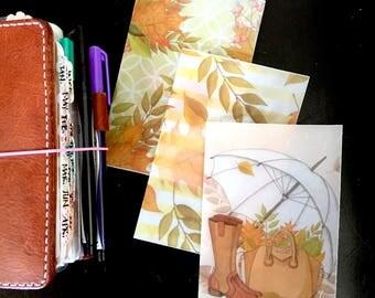 Hello Autumn Pocket Travelers Notebook TN Vellum Dashboards - 3 Piece Set - Fall Season
