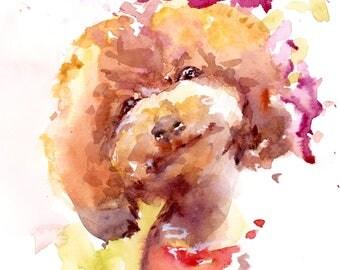 Custom digital watercolor pet portrait