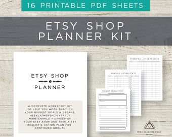 Etsy Business Planner, Etsy Shop Planner, PDF Planner, Home Business, Business Binder, SEO Planner, Goal Setting PDF, Productivity Planner