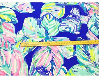 "1 YARD 36"" x 55"" Lilly Pulitzer Silk Fabric casa del sol small"