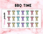 20% OFF A028 | Barbecue time Stickers - Daily Planner Stickers, Diary Stickers, Journal Stickers, Scrapbook stickers
