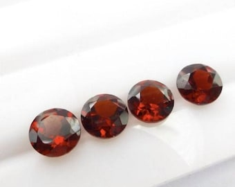 Red Garnet round cut 25 pcs lot Natural Garnet round cut faceted loose gemstone for jewelry
