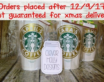 Starbucks Gift Card Set, Cup with Gift Card. The personalized cup comes cello wrapped with gift card [quality coffee cup, any day gift idea]