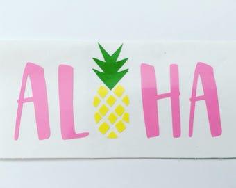 Aloha Decal