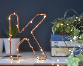 letter light wedding, fairy lights bedroom, copper micro led string lights, fairy string lights, shelfie letters, copper home letters