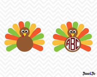 Turkey SVG, turkey cut file svg, Thanksgiving svg ,turkey vector,turkey svg,Turkey silhouette,Turkey monogram svg,turkey cut files svg eps