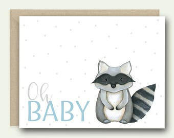 New Baby Congratulations Card - Oh Baby - new baby card, baby shower card, baby boy card, baby boy congratulations, new baby congrats