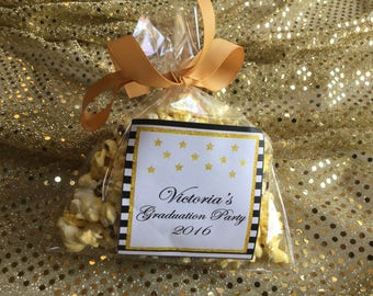 Personalized Party Favor Popcorn Bags