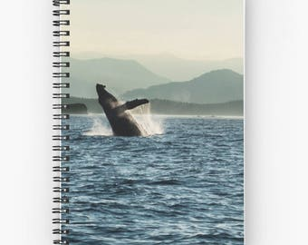 Whale Spiral Notebook | Nautical Notebook | Whale Journal | Ocean Spiral Journal | Blue Notebook | Small Notebook | Blank Notebook