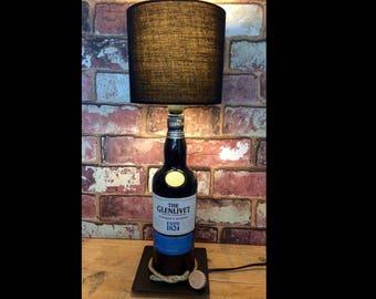 Glenlivet Table Lamp Single Malt Scotch Whisky Black Bottle Lamp. Scottish Whiskey Table Bedroom Light Founders Reserve