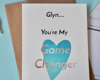 Game Changer Valentines Card, Valentines Day, Valentine Card, Card For Him, Card For Her, Valentines gift