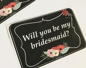 Will You Be My Bridesmaid?, Wine Label, Bridesmaid Candle Label, Maid Of Honour Gift Label, Bridesmaid Gifts, Bridesmaid Proposal