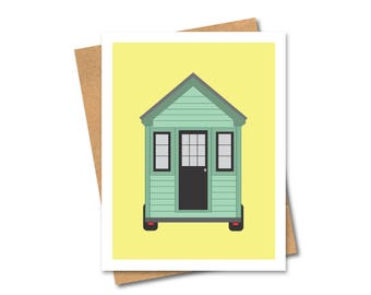 Tiny House on Wheels Cards - Note - Tiny Home