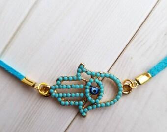Hamsa Necklace Chakra Necklace Hamsa Hand Charm Protection Necklace Unique Necklace Hamsa Jewelry