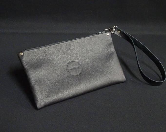 James Zip Purse - Soft Black - Handmade Kangaroo Leather - Made in Australia with Australian leather.