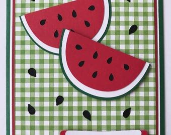 "Handmade Watermelon ""Thank You"" Card, You're So Sweet, Summer, Watermelon, Thank You"