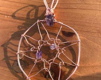 Amethyst Dreamcatcher Necklace
