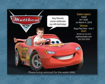 PERSONALIZED CARS Party Invite - BOY