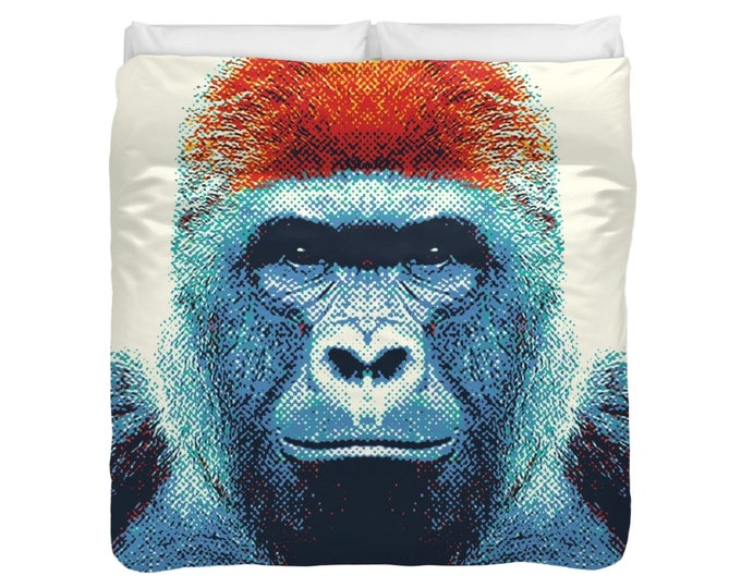 Gorilla - Colorful Animals Duvet Cover / Comforter