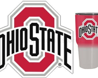 "Ohio State Buckeyes Premium Vinyl Die Cut Decal for Phone, YETI, RTIC, Ozark Insulated Rambler Tumbler Cups 3""W"