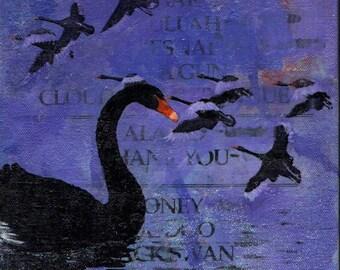 Tori Amos setlist painting (Blackswan)