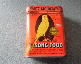 Hartz Song Bird Seed Tin