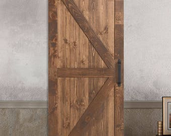 Farm Style Sliding Barn Doors. - K / X STYLE Stained - Painted - Unfinished & Barn doors   Etsy pezcame.com
