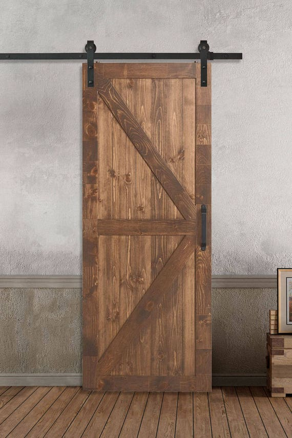 Farm Style Sliding Barn Doors K X Style Stained