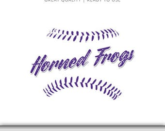 TCU Horned Frogs Baseball Graphic - Horned Frogs - Horned Frog SVG - 7 Files Total - Digital Download - Ready to Use!