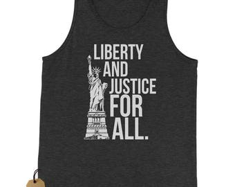 Liberty And Justice For All Jersey Tank Top for Men